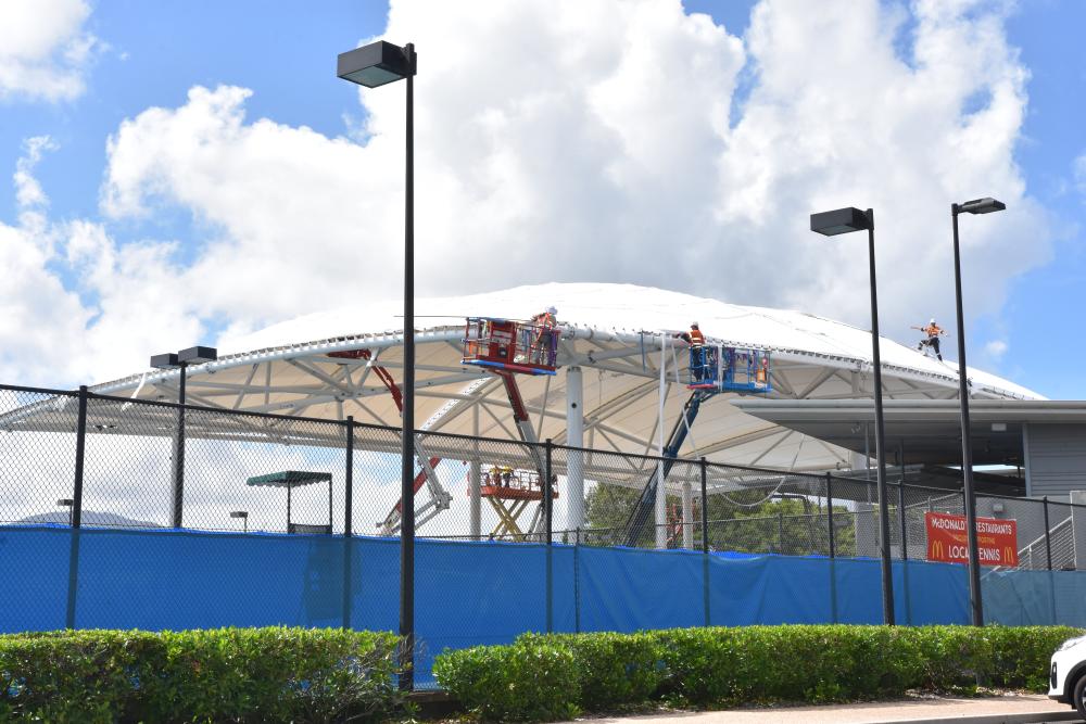 tennis centre roof